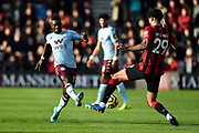 Marvelous Nakamba (11) of Aston Villa is challenged by Philip Billing (29) of AFC Bournemouth during the Premier League match between Bournemouth and Aston Villa at the Vitality Stadium, Bournemouth, England on 1 February 2020.
