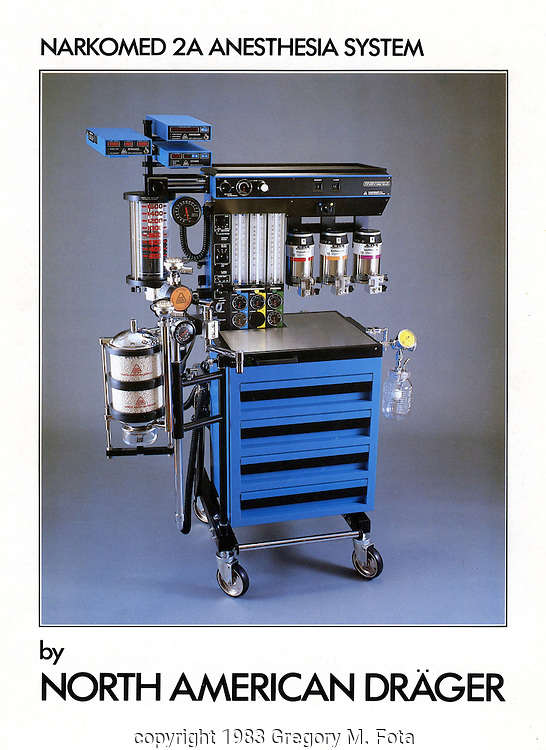 North American Draeger - Brochure for anesthesia machine product line,Telford,PA.