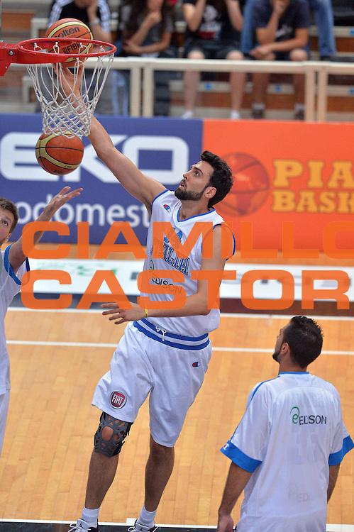 DESCRIZIONE : Trento Nazionale Italia Uomini Trentino Basket Cup Italia Germania Italy Germany<br /> GIOCATORE : Riccardo Cervi<br /> CATEGORIA : Pregame<br /> SQUADRA : Italia Italy<br /> EVENTO : Trentino Basket Cup<br /> GARA : Italia Germania Italy Germany<br /> DATA : 10/07/2014<br /> SPORT : Pallacanestro<br /> AUTORE : Agenzia Ciamillo-Castoria/GiulioCiamillo<br /> Galleria : FIP Nazionali 2014<br /> Fotonotizia : Trento Nazionale Italia Uomini Trentino Basket Cup Italia Germania Italy Germany