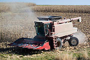 Nebraska NE USA farming equipment harvesting corn