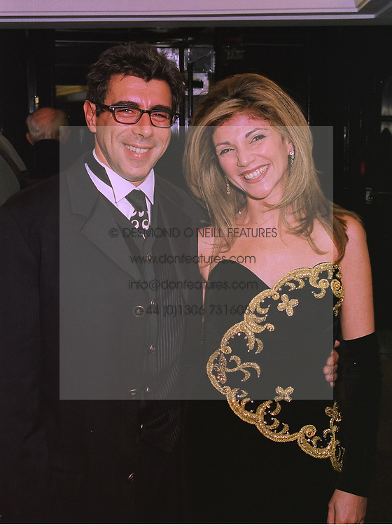 MR & MRS GARY DAVIES the radio presenter at a ball in London on 20th November 1997.MDN 115