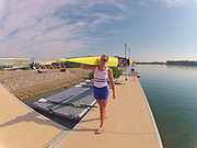 Caversham, Great Britain, GBR W2X foreground, Vicki MEYER-LAKER, Go Pro on Time lapse, on the boating dock at the GB Rowing media day at the Redgrave Pinsent Rowing Lake. GB Rowing Training centre.  Thursday  19/05/2011 [Mandatory Credit. Peter Spurrier/Intersport Images]
