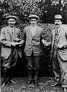 HARRY VARDEN, FRANCIS QUIMET AND TED RAY 1913 <br />