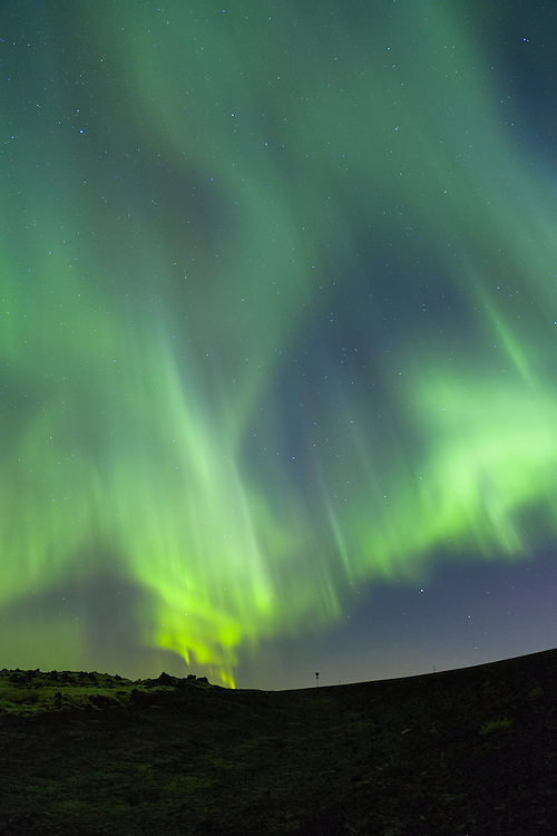 Aurora Borealis over Blafjoll september 19th 2012