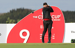 Oct 18, 2018-Jeju, South Korea-Byeong Hun An of South Korea action on the 9th tee during the PGA Golf CJ Cup Nine Bridges Round 1 at Nine Bridges Golf Club in Jeju, South Korea.