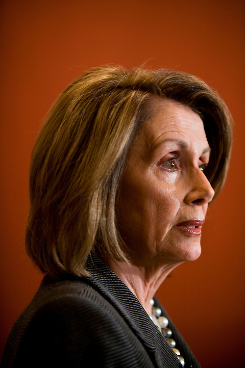 House Speaker Nancy Pelosi (D-CA) speaks at a news conference on Dec. 2, 2008 in Washington, DC.