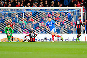 Portsmouth's Gary Roberts celebrates after giving Portsmouth the lead during the The FA Cup fourth round match between Portsmouth and Bournemouth at Fratton Park, Portsmouth, England on 30 January 2016. Photo by Graham Hunt.