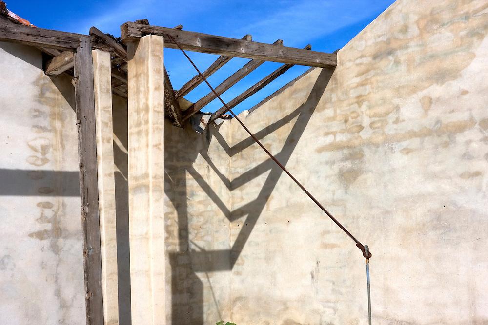 Missing roof in Cabanas, Artemisa, Cuba.