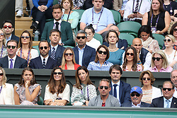 July 14, 2019 - London, London, United Kingdom - Image licensed to i-Images Picture Agency. 14/07/2019. London, United Kingdom. The Duke and Duchess of Cambridge in the Royal Box for the Men's Singles Final on the last day of the Wimbledon Tennis Championships in London. (Credit Image: © Stephen Lock/i-Images via ZUMA Press)