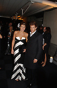 Amber Nuttall and Tom Aikens. The Black and White Winter Ball. Old Billingsgate. London. 8 February 2006. -DO NOT ARCHIVE-© Copyright Photograph by Dafydd Jones 66 Stockwell Park Rd. London SW9 0DA Tel 020 7733 0108 www.dafjones.com