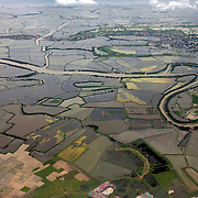 An ariel view of the surrounding areas of Manila showing the Pasig river and farming on September 27, 2008 Manila, the Philippines. Photo Tim Clayton