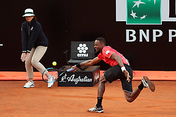 May 14, 2018 - Rome, Rome, Italy - 14th May 2018, Foro Italico, Rome, Italy; Italian Open Tennis; Gael Monfils (FRA) in action during his match lost 6-3, 6-1 against Fabio Fognini (ITA)  Credit: Giampiero Sposito/Pacific Press  (Credit Image: © Giampiero Sposito/Pacific Press via ZUMA Wire)