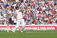 Joe Root of England batting during the 5th Investec Ashes Test Match match at the Kia Oval, London<br /> Picture by Alan Stanford/Focus Images Ltd +44 7915 056117<br /> 21/08/2015