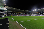 A general view inside Pride Park Stadium ahead of  The FA Cup match between Derby County and Northampton Town at the Pride Park, Derby, England on 4 February 2020.