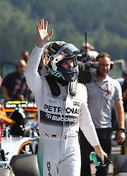 22.08.2015, Circuit de Spa, Francorchamps, BEL, FIA, Formel 1, Grand Prix von Belgien, Qualifying, im Bild Nico Rosberg (Mercedes AMG Petronas Formula One Team) winkt den Fans // during the Qualifying of Belgian Formula One Grand Prix at the Circuit de Spa in Francorchamps, Belgium on 2015/08/22. EXPA Pictures © 2015, PhotoCredit: EXPA/ Eibner-Pressefoto/ Bermel<br /> <br /> *****ATTENTION - OUT of GER*****