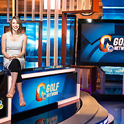 Hayley Hirshland at the Golf Channel Studios.