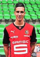 Vincent PAJOT - 19.09.2013 - Photo officielle - Rennes - Ligue 1<br /> Photo : Philippe Le Brech / Icon Sport