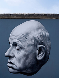 Painting of Andrei Sakharov by artist Dmitry Vrubel newly repainted on Berlin wall at East Side Gallery in Berlin August 2009