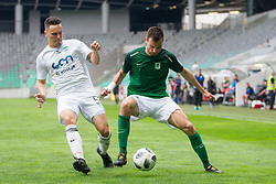 Dino Stiglec of NK Olimpija Ljubljana during football match between NK Olimpija Ljubljana and NK Krsko in Round #35 of Prva liga Telekom Slovenije 2017/18, on May 23, 2018 in SRC Stozice, Ljubljana, Slovenia. Photo by Urban Urbanc / Sportida