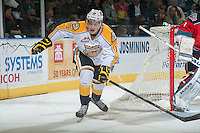 KELOWNA, CANADA - OCTOBER 25: Nolan Patrick #19 of Brandon Wheat Kings skates against the Kelowna Rockets on October 25, 2014 at Prospera Place in Kelowna, British Columbia, Canada.  (Photo by Marissa Baecker/Getty Images)  *** Local Caption *** Nolan Patrick;