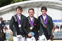 Howley Richard, IRL, Ryan Darragh, IRL, Pender Michael, IRL<br /> Final 5 years  old Horses<br /> Zangersheide FEI World Breeding Jumping Championship 2018<br /> © Hippo Foto - Julien Counet