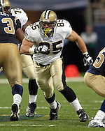 Saints tight end Ernie Conwell (85) during game action against St. Louis at the Edward Jones Dome in St. Louis, Missouri, October 23, 2005.  The Rams beat the Saints 28-17.