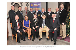 Pictured at the Westport Lions Club 25 year celebration recently,<br /> Past Presidents of Westport Lions, Back L-R; Jimmy Kearns, Vinny Hughes, Jock Staunton, Kevin McDonagh, Michael Moran, TJ Hughes, Ernie Cafferkey and Darren Madden. Sitting L-R, Pat Murphy, Bernadine McGlade, Des Ryan,(Current President), Bert Farrell and Michael Downes.<br /> Pic Conor McKeown