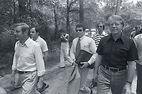 Carter, Mondale and Others Walking in the Woods --- Image by © Owen Franken/CORBIS