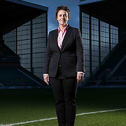 Leeann Dempster CEO of Hibernian FC stands by the pitch at Easter Road, Edinburgh; home of Hibernian. Picture Robert Perry for The Times 25th Jan 2018