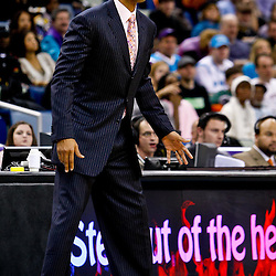 December 26, 2010; New Orleans, LA, USA; New Orleans Hornets head coach Monty Williams during the fourth quarter against the Atlanta Hawks at the New Orleans Arena.  The Hornets defeated the Hawks 93-86. Mandatory Credit: Derick E. Hingle