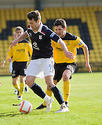 Dundee's Carl Finnigan and Livingston's Liam FoxLivingston v Dundee, IRN BRU Scottish Football League, First Division - ..© David Young - .5 Foundry Place - .Monifieth - .Angus - .DD5 4BB - .Tel: 07765 252616 - .email: davidyoungphoto@gmail.com.web: www.davidyoungphoto.co.uk