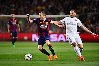 Andres INIESTA / Yohan CABAYE - 21.04.2015 - Barcelone / Paris Saint Germain - 1/4Finale Retour Champions League<br />