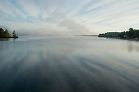 Early morning view from Mosquito Bridge on Lake Winnisquam Thursday morning.  (Karen Bobotas/for the Laconia Daily Sun)