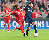 Douglas Costa of Bayern Munich and Augusto of Atletico Madrid during the UEFA Champions League match at Allianz Arena, Munich<br /> Picture by EXPA Pictures/Focus Images Ltd 07814482222<br /> 03/05/2016<br /> ***UK &amp; IRELAND ONLY***<br /> EXPA-FEI-160503-5011.jpg