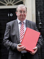 © Licensed to London News Pictures. 15/09/2011. London, United Kingdom .David Foley Chief Executive Dover district chamber of commerce..Petition being delivered to No.10 Downing Street by a coalition of politicians and business leaders against Liverpool's cruise terminal proposal..Photo credit : Chris Winter/LNP