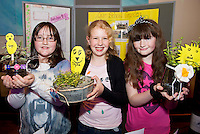 School Garden Belclare National school pupils presented their Garden project Ciara Coppinger, Sophie Ronan and Melissa McTigue at the Education Extravaganza hosted by The Galway Education Centre . .The final event of the week is the Medtronic  Junior FIRST LEGO League challenge. This is the second year The Galway Education Centre has hosted this competition - one of only six countries in the world who do so. Following the success of last year, over 500 school children from all over the country are expected to come along and practice their robotics, presentation and teamwork skills live on the night!. .Bernard Kirk, Director of The Galway Education Centre says; ?Working on this three day event every year is fun and exciting and always surprising. The talent, instinct and drive we discover in these young children is an inspiration to all of us. We look forward to the continued success of all of our challenges which would not be possible without the support of companies like Medtronic, SAP, HP and LEGO?.. .All of these events are open to the public and free admission. They will also be streamed live on line at www.galwayeducationcentre.ie. Photo:Andrew Downes.