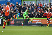 Forest Green Rovers Dan Wishart(17) controls the ball during the EFL Sky Bet League 2 match between Forest Green Rovers and Luton Town at the New Lawn, Forest Green, United Kingdom on 16 December 2017. Photo by Shane Healey.