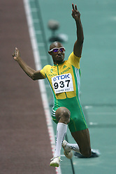 South Africa's Godfrey Khotso Mokoena in action during the Long Jump Final