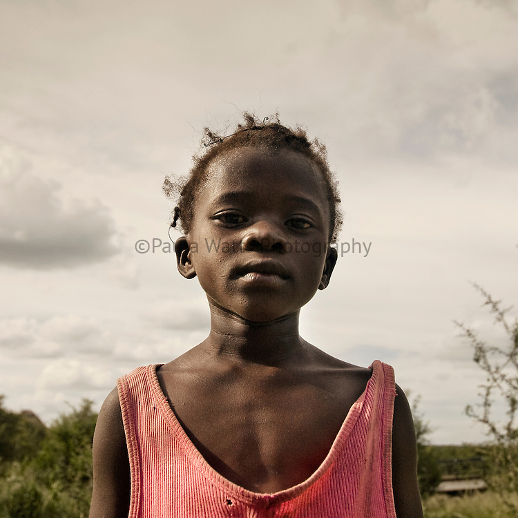 Strong and emotional african girl posing for portrait