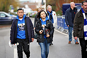 Leicester fans arriving at The King Power Stadium before the Premier League match between Leicester City and Burnley at the King Power Stadium, Leicester, England on 10 November 2018.