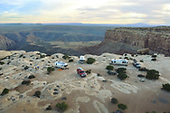 Airstream camping on remote public lands in Southern Utah.