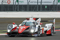 Stephane Sarrazin (FRA) / Mike Conway (GBR) / Kamui Kobayashi (JPN) #6 Toyota Gazoo Racing Toyota TS050 Hybrid, during Free Practice 2  as part of the WEC 6 Hours of Silverstone 2016 at Silverstone, Towcester, Northamptonshire, United Kingdom. April 15 2016. World Copyright Peter Taylor. Copy of publication required for printed pictures.