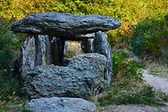Saint-Just, Brittany, France. Prehistoric passage grave allee couverte known as La Grotte des Fées de Tréal