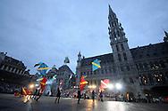 ©www.agencepeps.be/ F.Andrieu  - Belgium - Brussels - 120704 - Grand-Place Bruxelles - Ommegang - Stéphane Bern narrateur pour le spectacle de l'Ommegang spectacle historique annuel sur Charles Quint