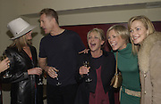 Tamsin Outhwaithe, Lee Chapman, Lesley Ashe, Jenni Falconer ( from breakfst T.V. ) and Terry Dyer Teatro 4 th birthday. 27 Feb 2002. © Copyright Photograph by Dafydd Jones 66 Stockwell Park Rd. London SW9 0DA Tel 020 7733 0108 www.dafjones.com