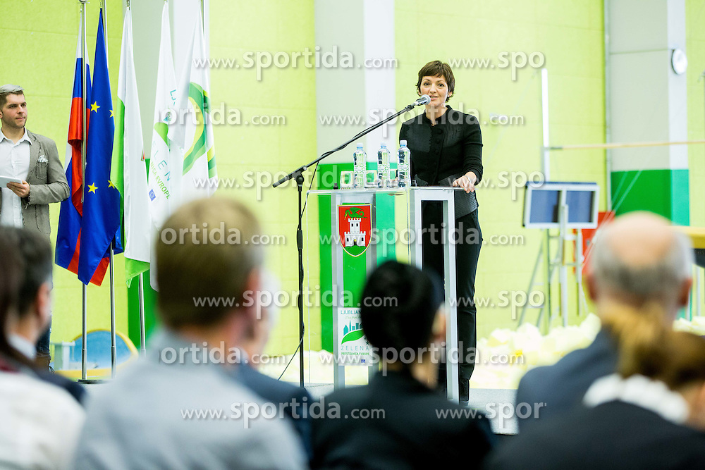 Maja Makovec Brencic, Minister for Education, Science and Sport during Grand Opening of new Ljubljana Gymnastics centre Cerar-Pegan-Petkovsek, on November 26, 2015 in Ljubljana, Slovenia. Photo by Vid Ponikvar / Sportida