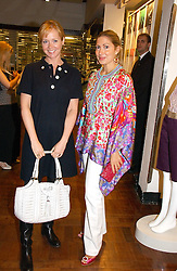 Left to right, KATE REARDON and CATHERINE PREVOST at a party hosted by Elizabeth Saltzman and Harvey Nichols to celebrate the UK launch of New York fashion designer Tory Burch held at the Fifth Floor Restaurant, Harvey Nichols, Knightsbridge, London on 24th May 2006.<br />
