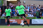 Forest Green Rovers Theo Archibald(18) on the ball during the Pre-Season Friendly match between Forest Green Rovers and Leeds United at the New Lawn, Forest Green, United Kingdom on 17 July 2018. Picture by Shane Healey.