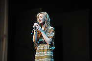 Brittany Mann sings during Oxford's Got Talent at the Powerhouse in Oxford, Miss., on Monday, March 25, 2013.