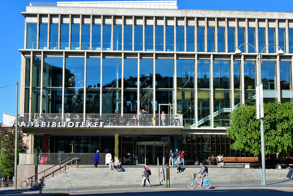 Stadsbiblioteket Main Library in Gothenburg, Sweden <br />